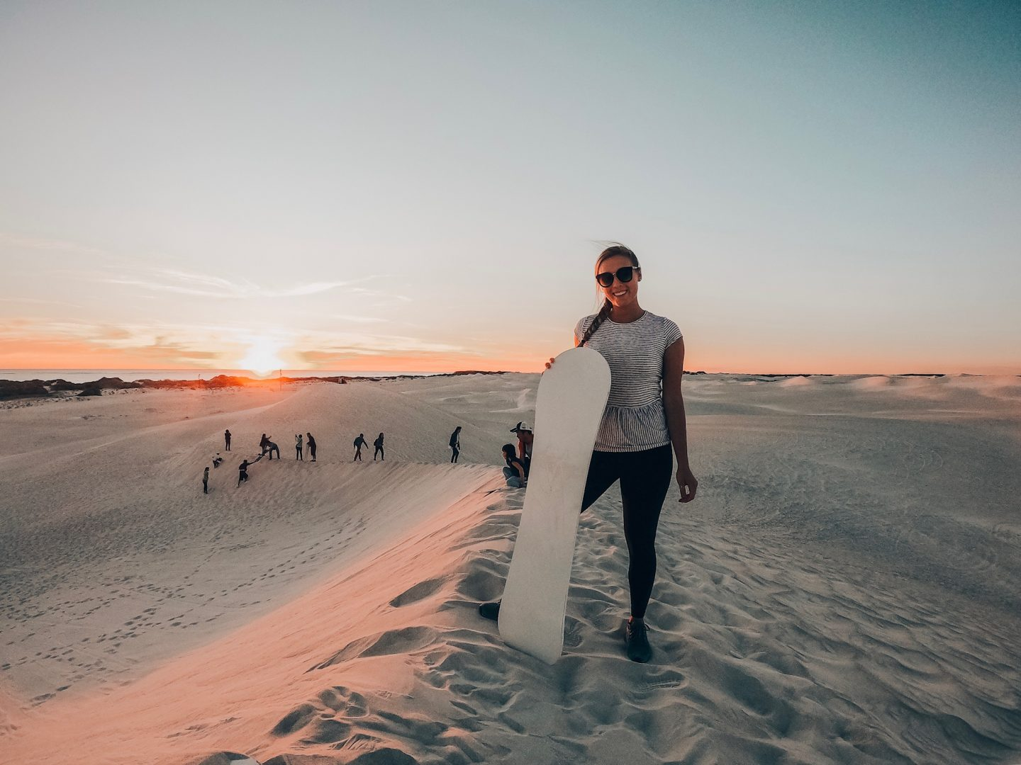 Sand boarding at sunset in Western Australia!