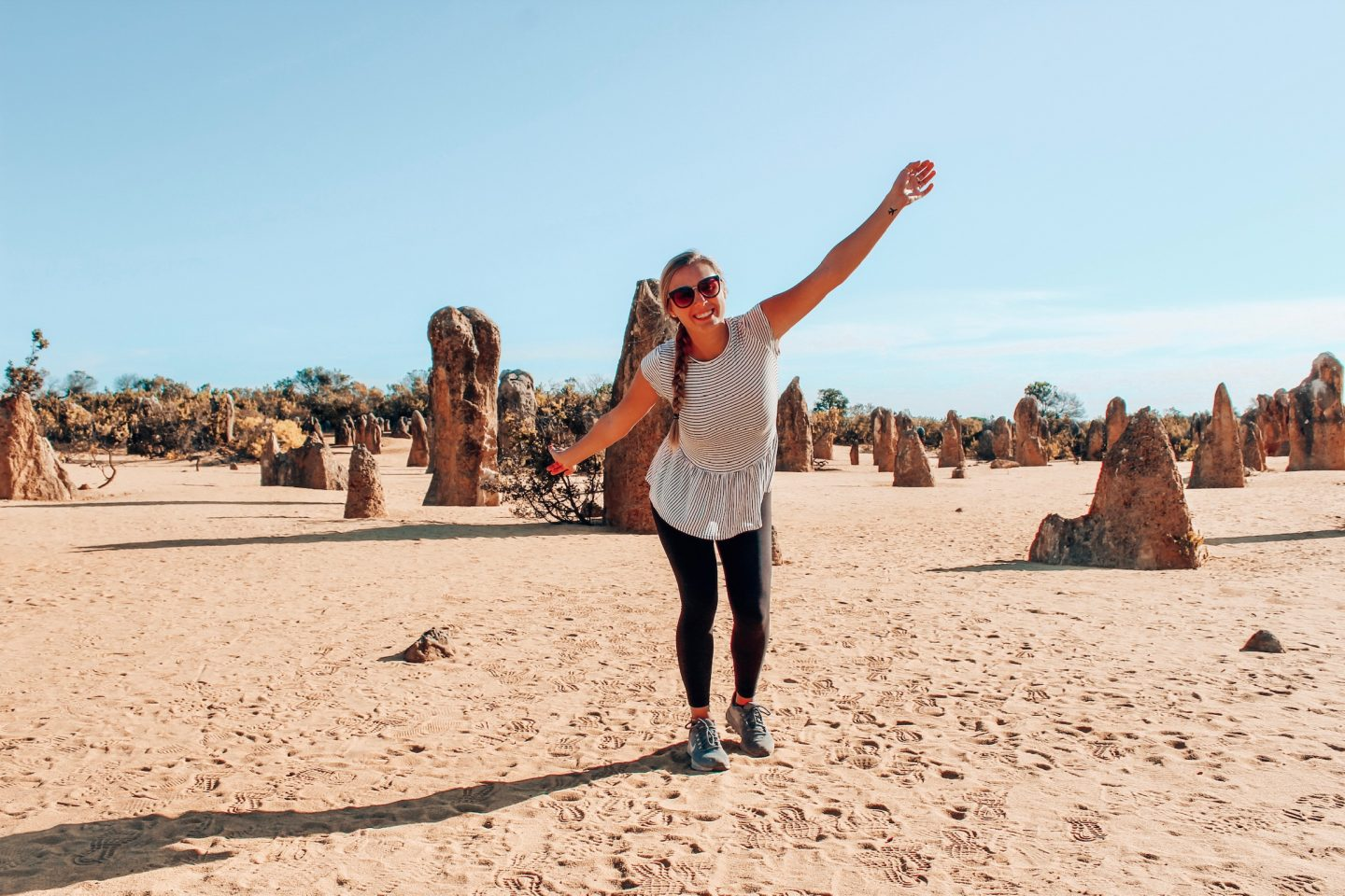 Posing in the Pinnacles Desert in Western Australia!