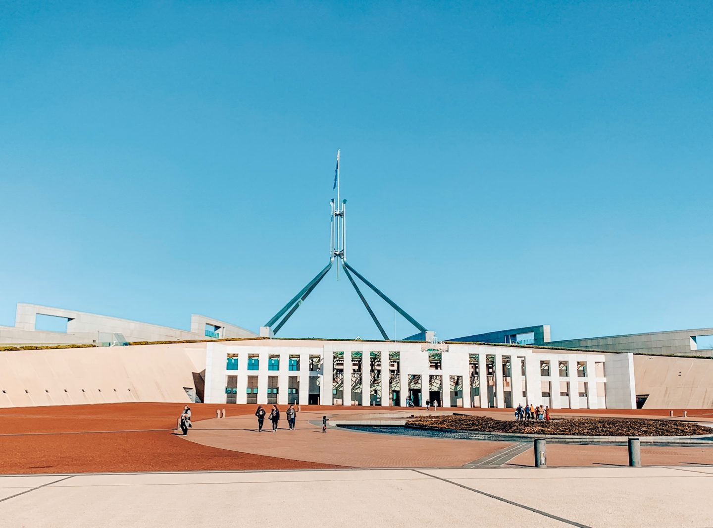 Photo of Australia's Parliament building in Canberra, Australia.