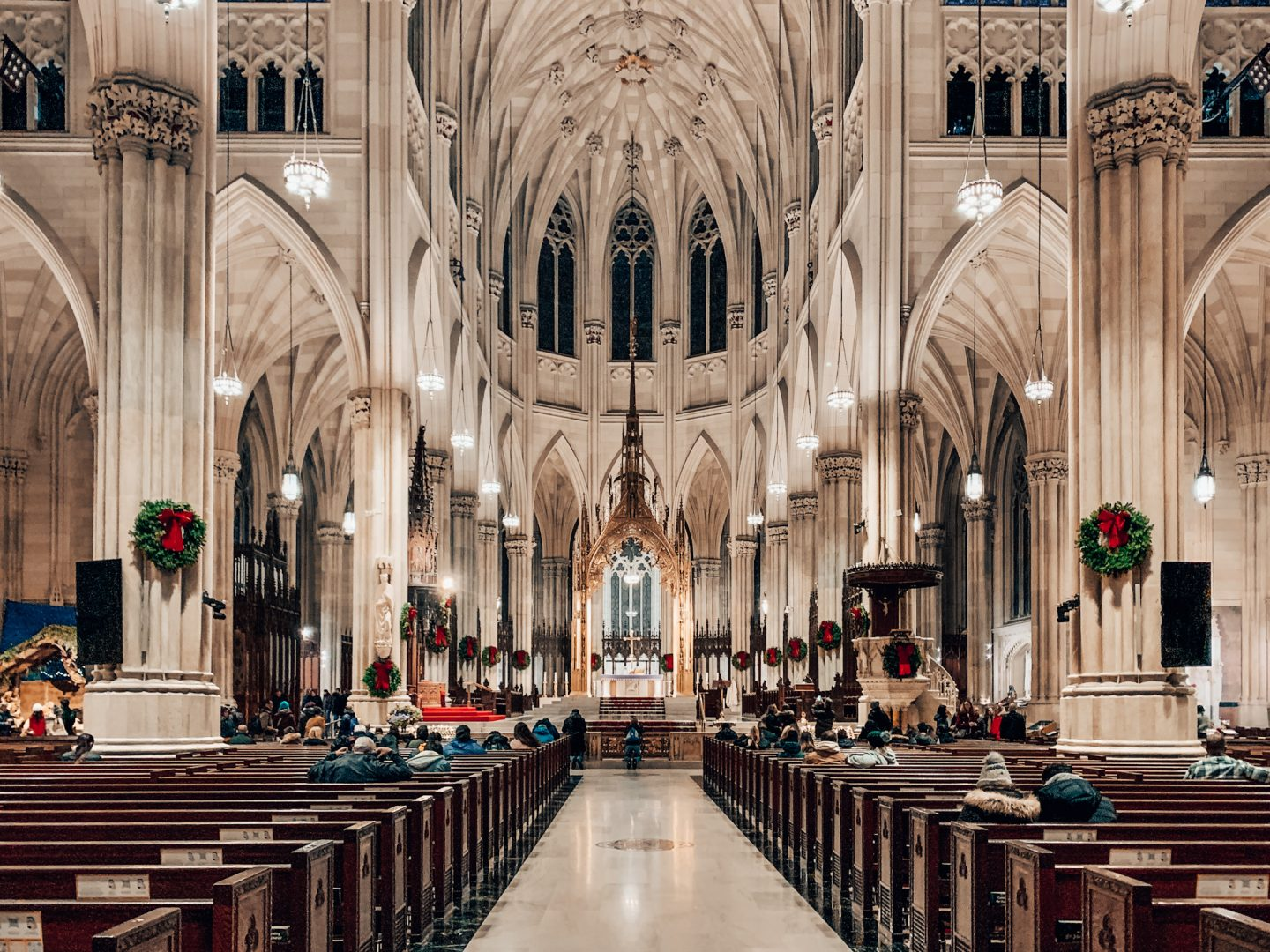 St. Patrick's Cathedral in New York City around the holidays!