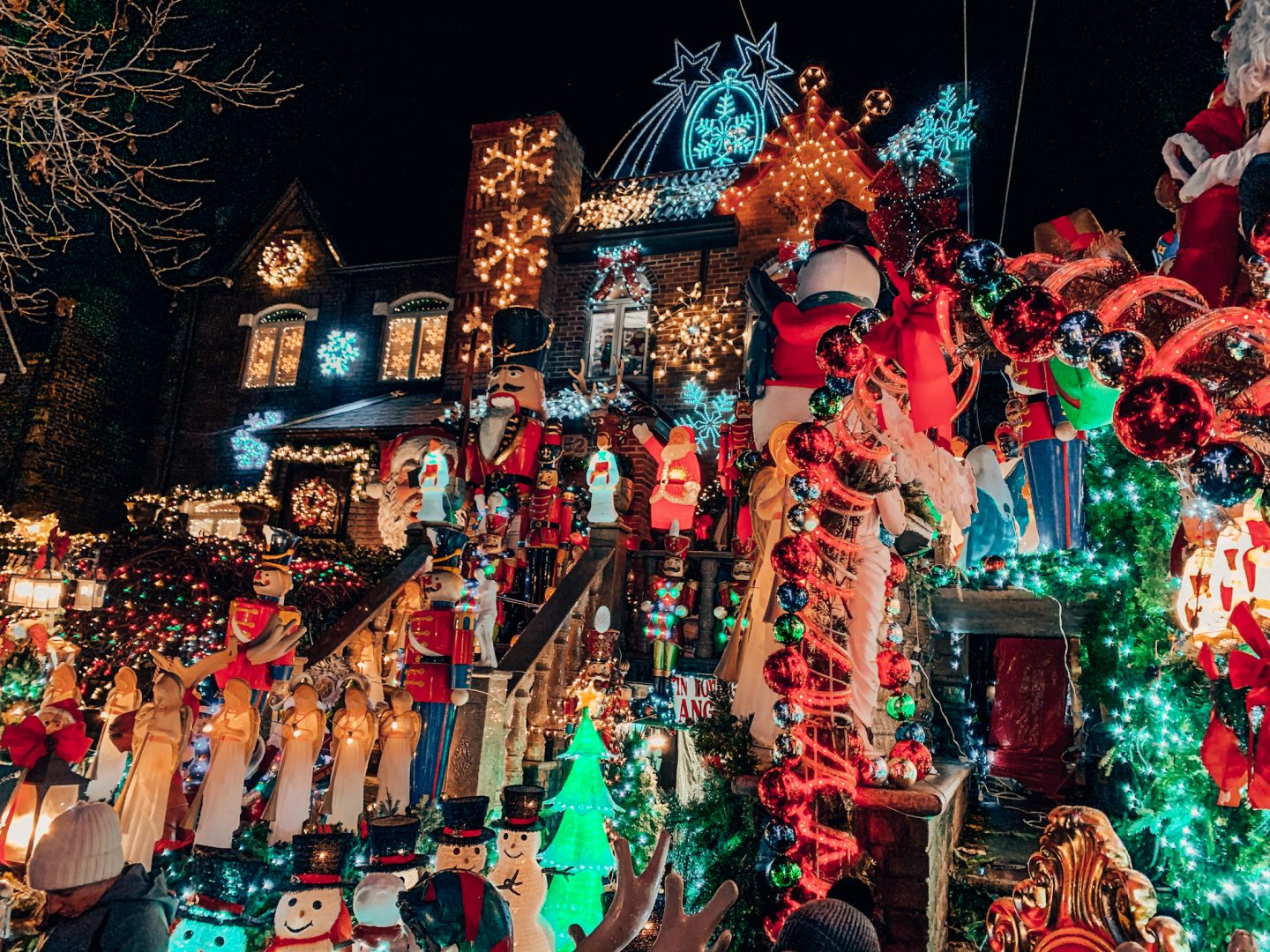 Decorated homes in Dyker Heights, Brooklyn!