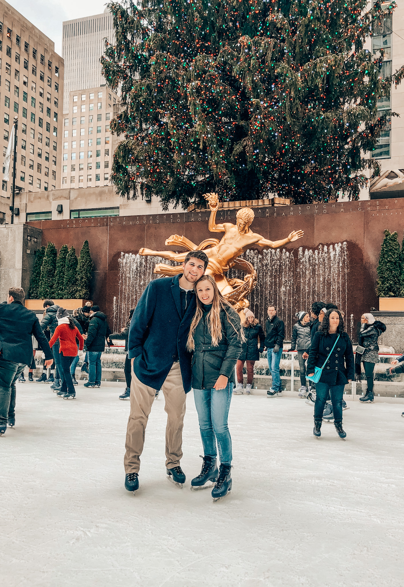 Ice skating at Rockefeller Center with my boyfriend in December!