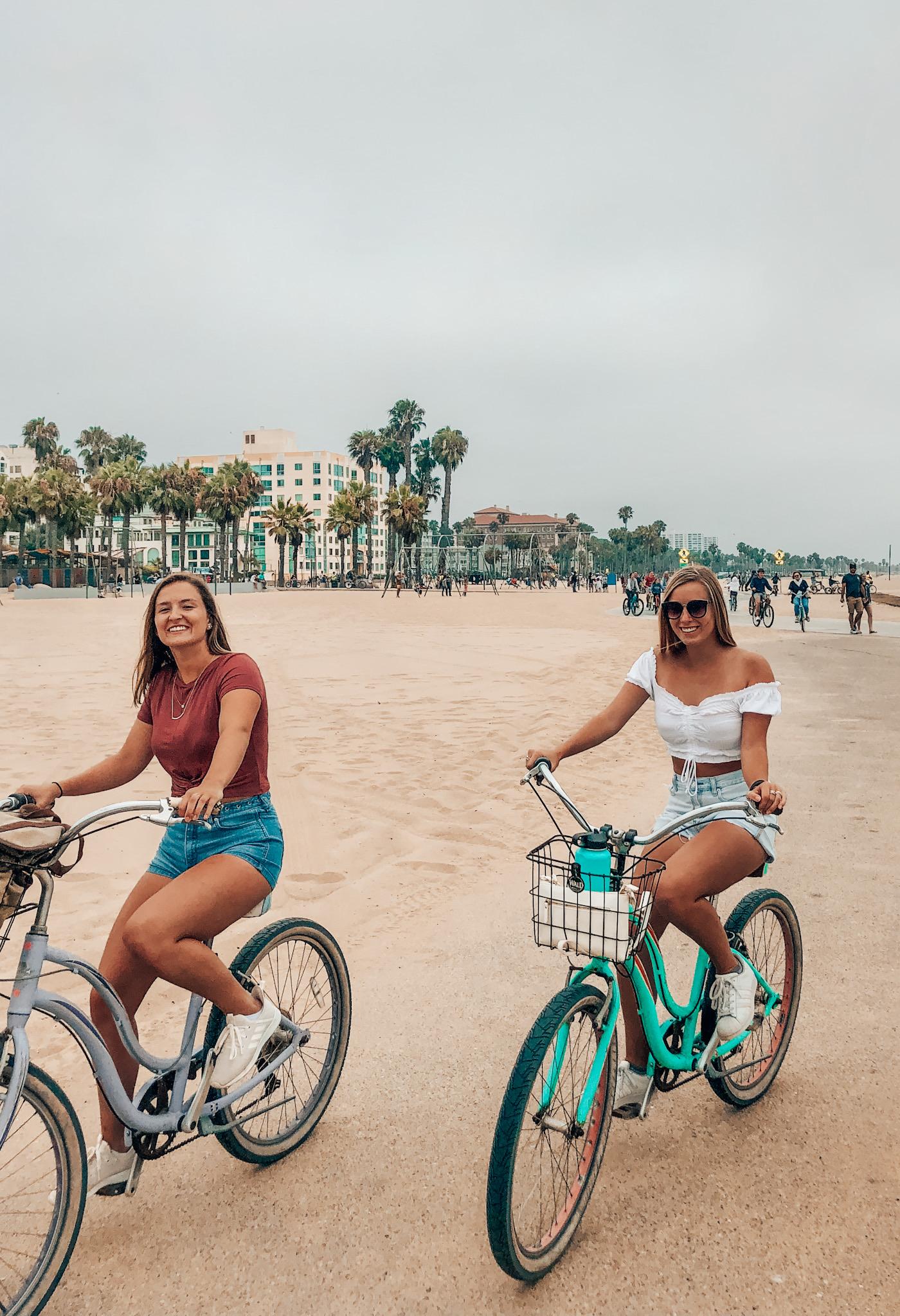 Biking from Venice Beach to Santa Monica Pier!