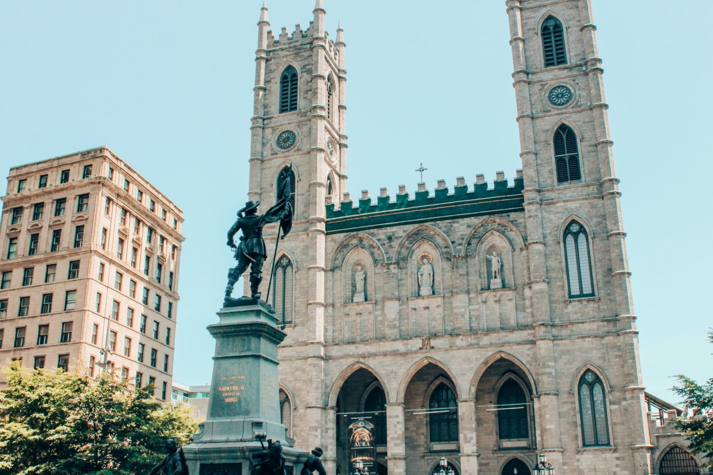 Notre Dame Basilica located in the heart of Old Montreal.