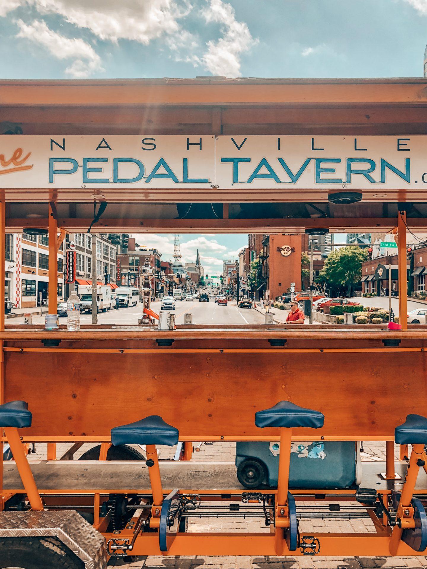 Pedal Tavern on Broadway in Nashville