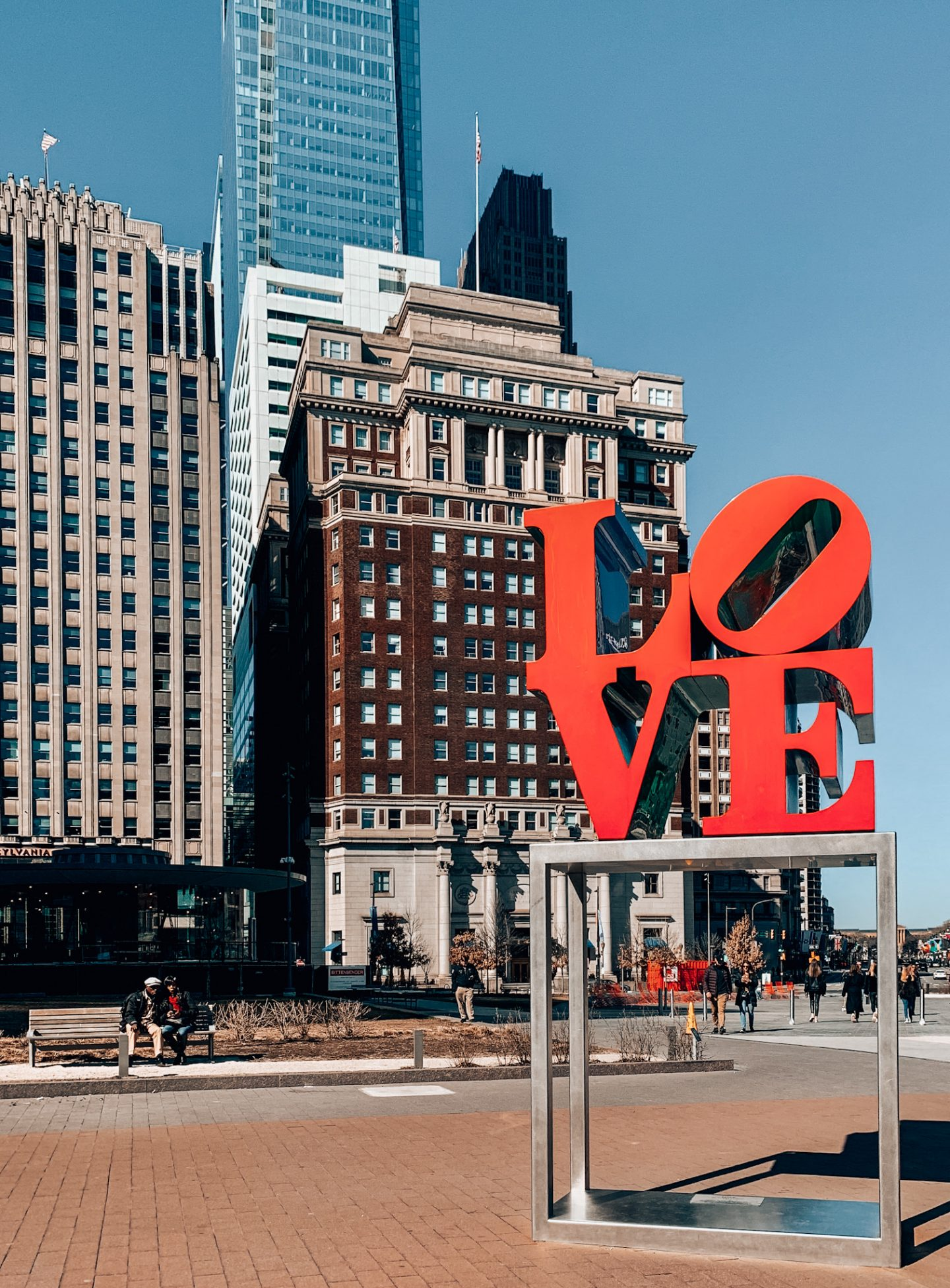 Philadelphia's famous LOVE sculpture