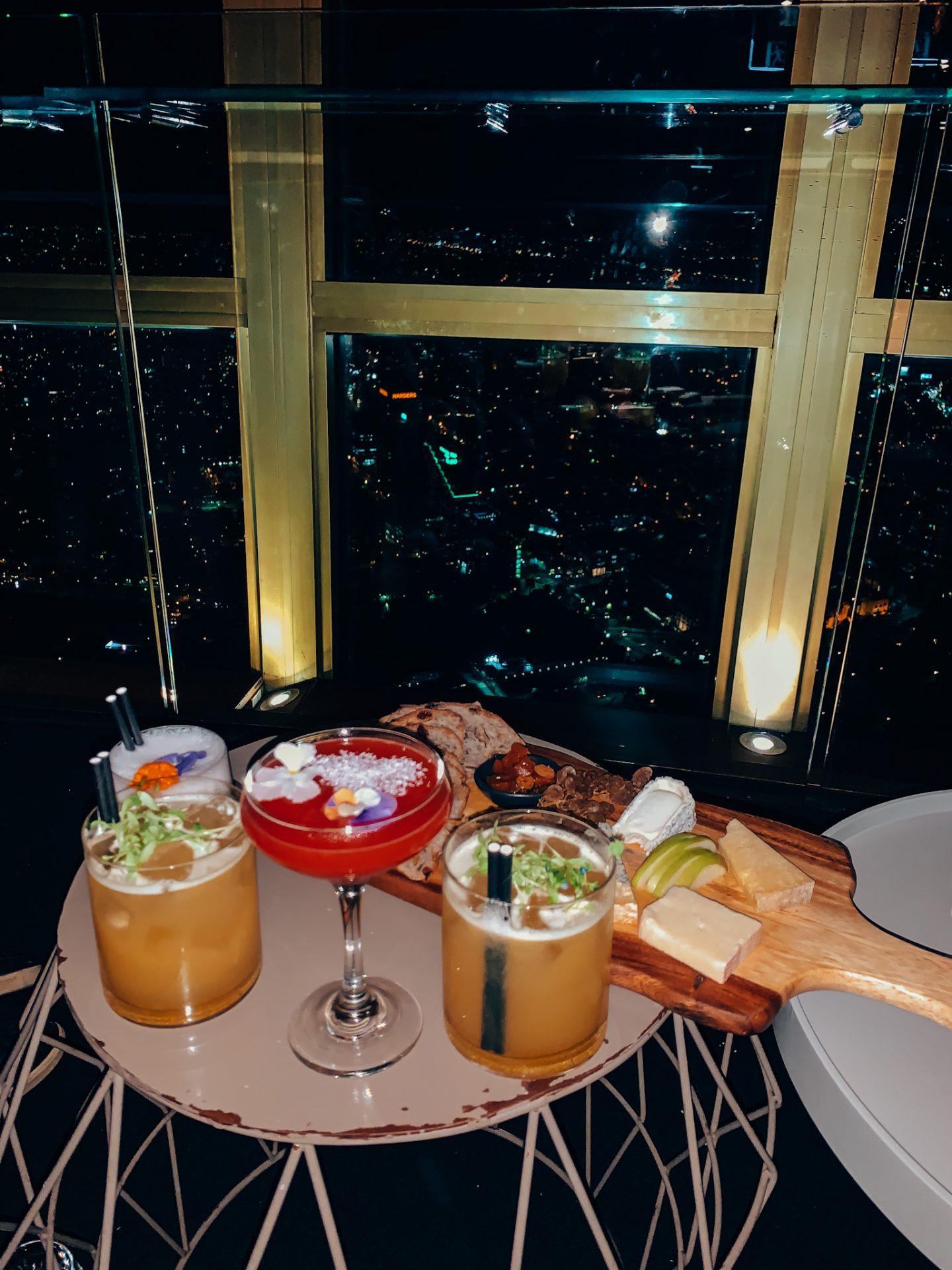 Cocktails and cheeseboards in the Sydney Eye Tower