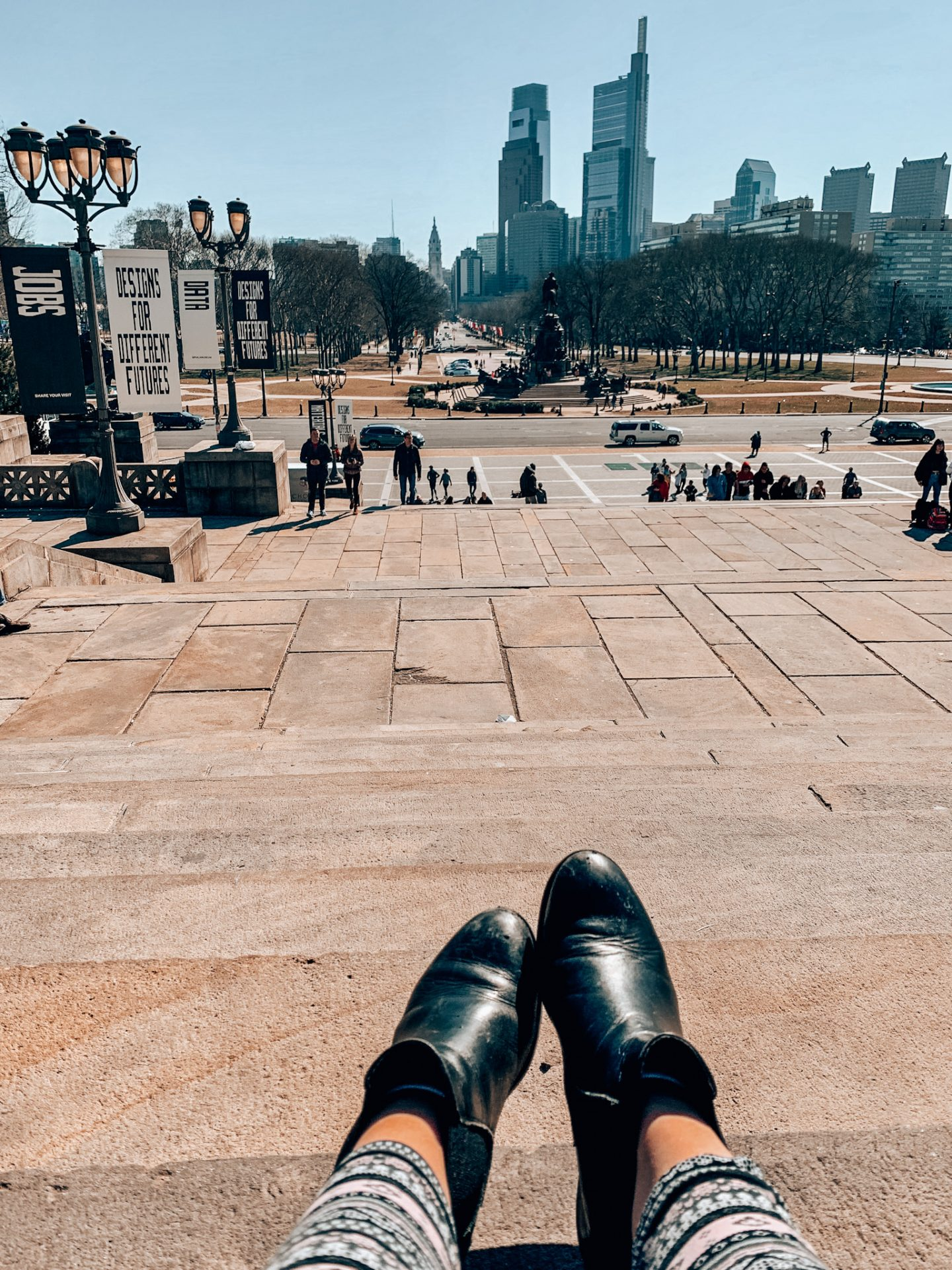 View of Philly from the Rocky Steps