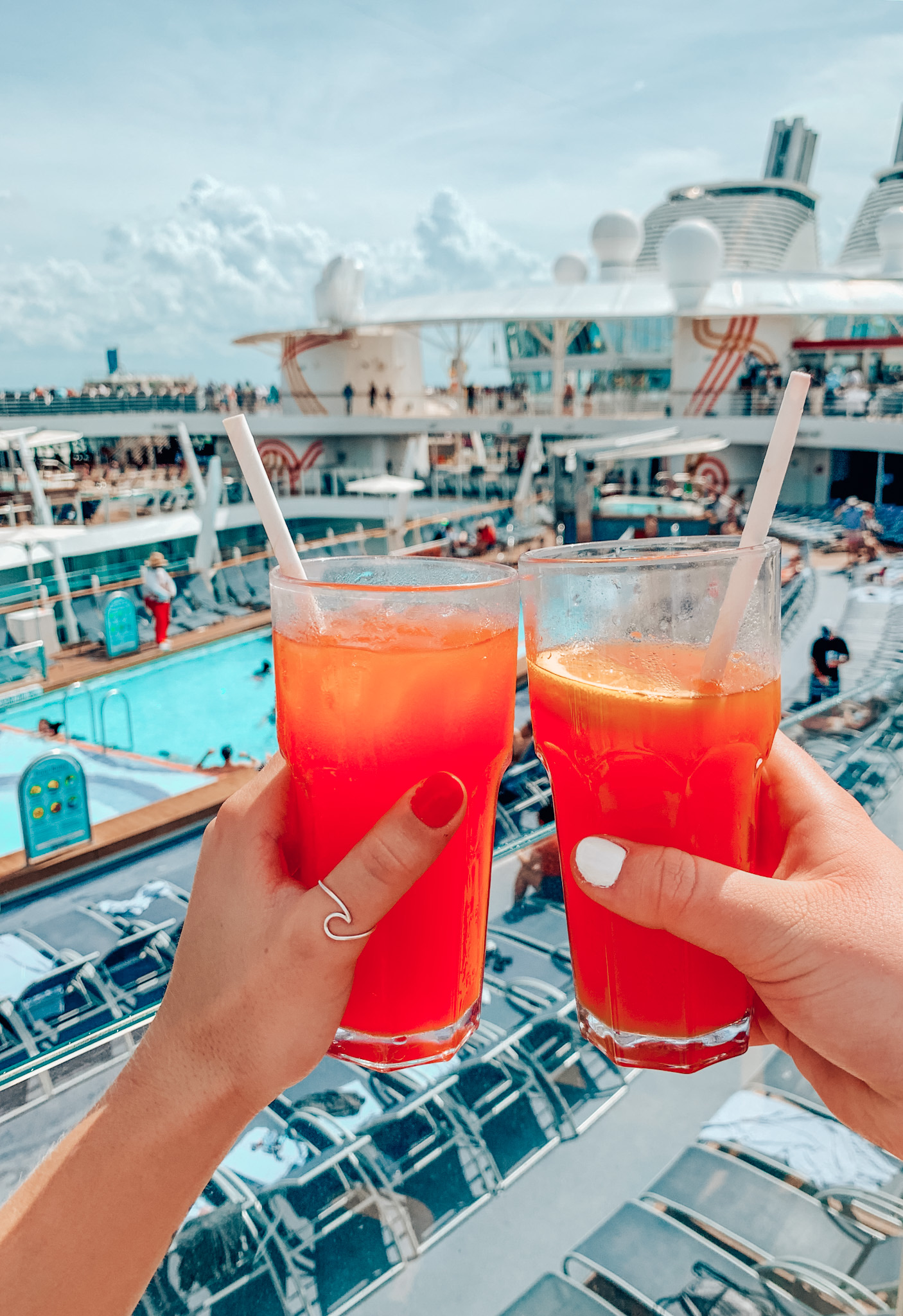 Sippin' on Bahama Mamas as we set sail to the Bahamas on Royal Caribbean's Harmony of the Seas