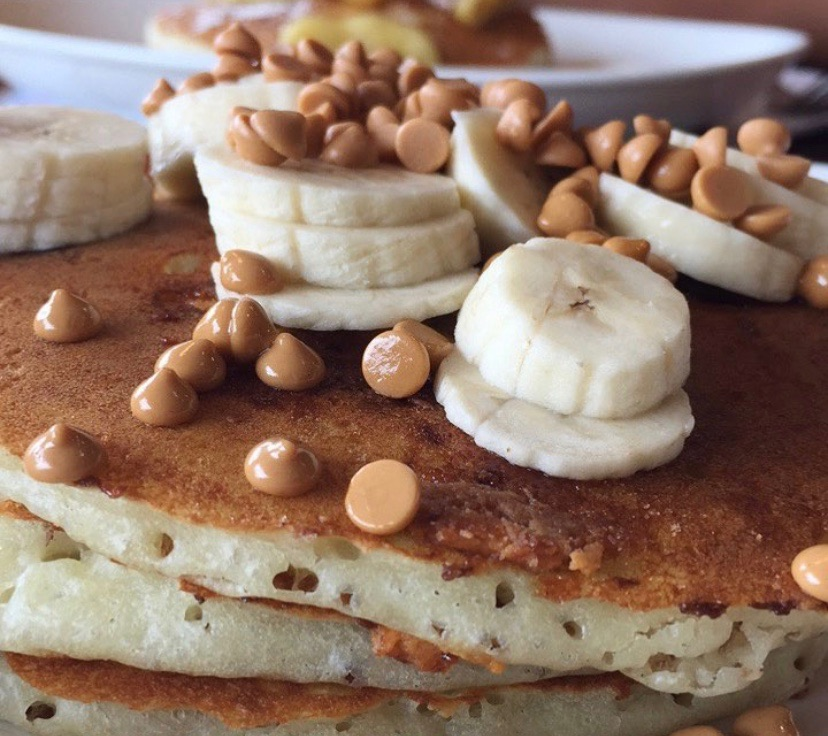 Going bananas for these Chip's pancakes | Caramel banana pancakes in Fairfield, CT