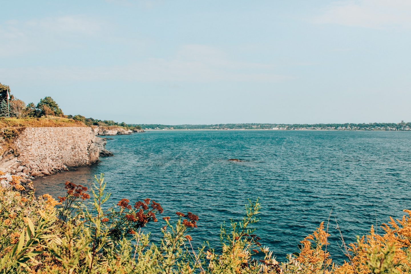 View from the Cliff Walk in Newport, RI