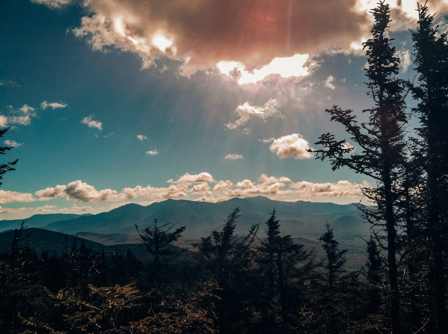 Hiking in the White Mountains in New England