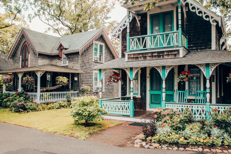 Gingerbread Houses in Oak Bluffs, Martha's Vineyard