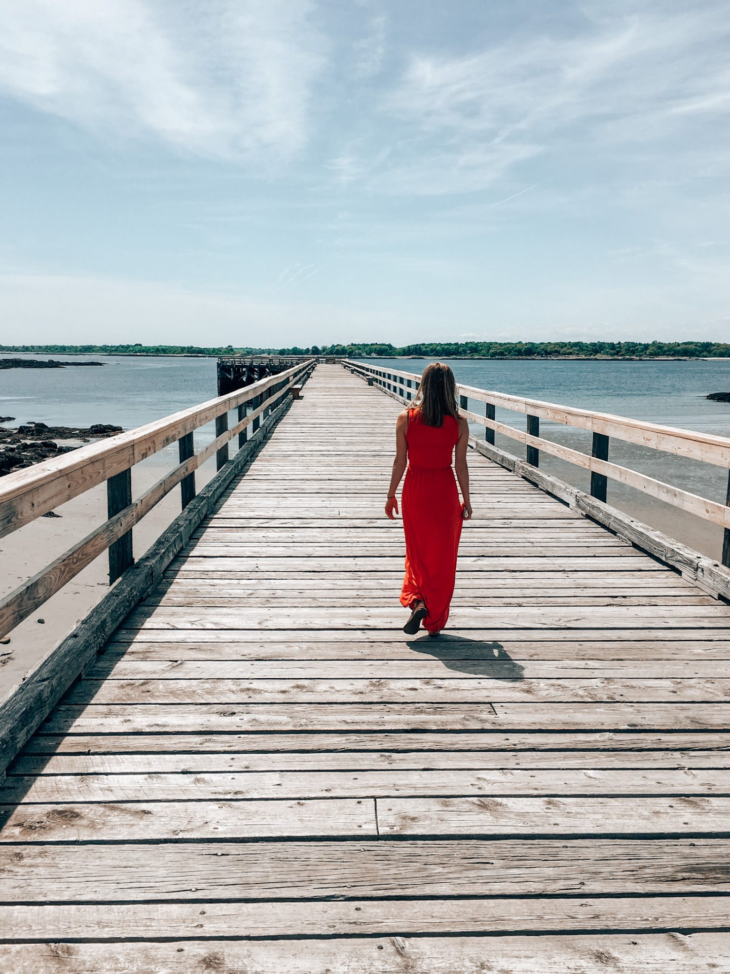 Pier at Fort Foster in Kittery, ME