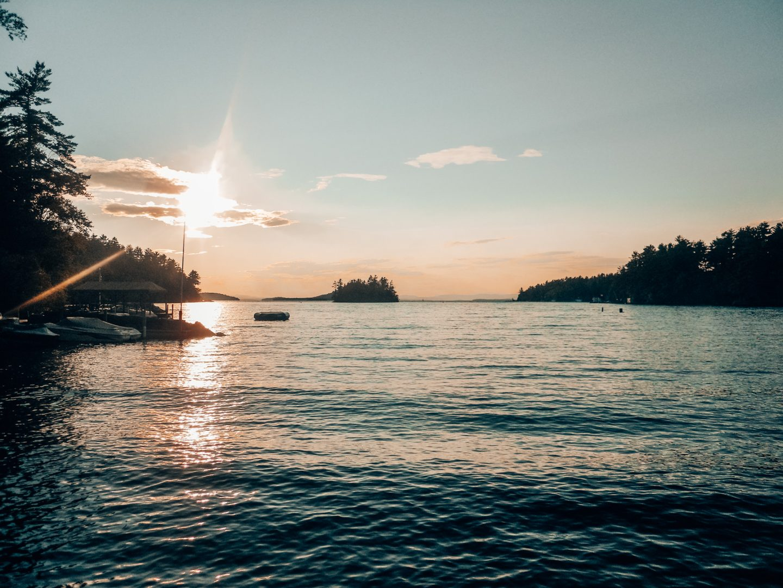 Lake Winnipesaukee at sunset