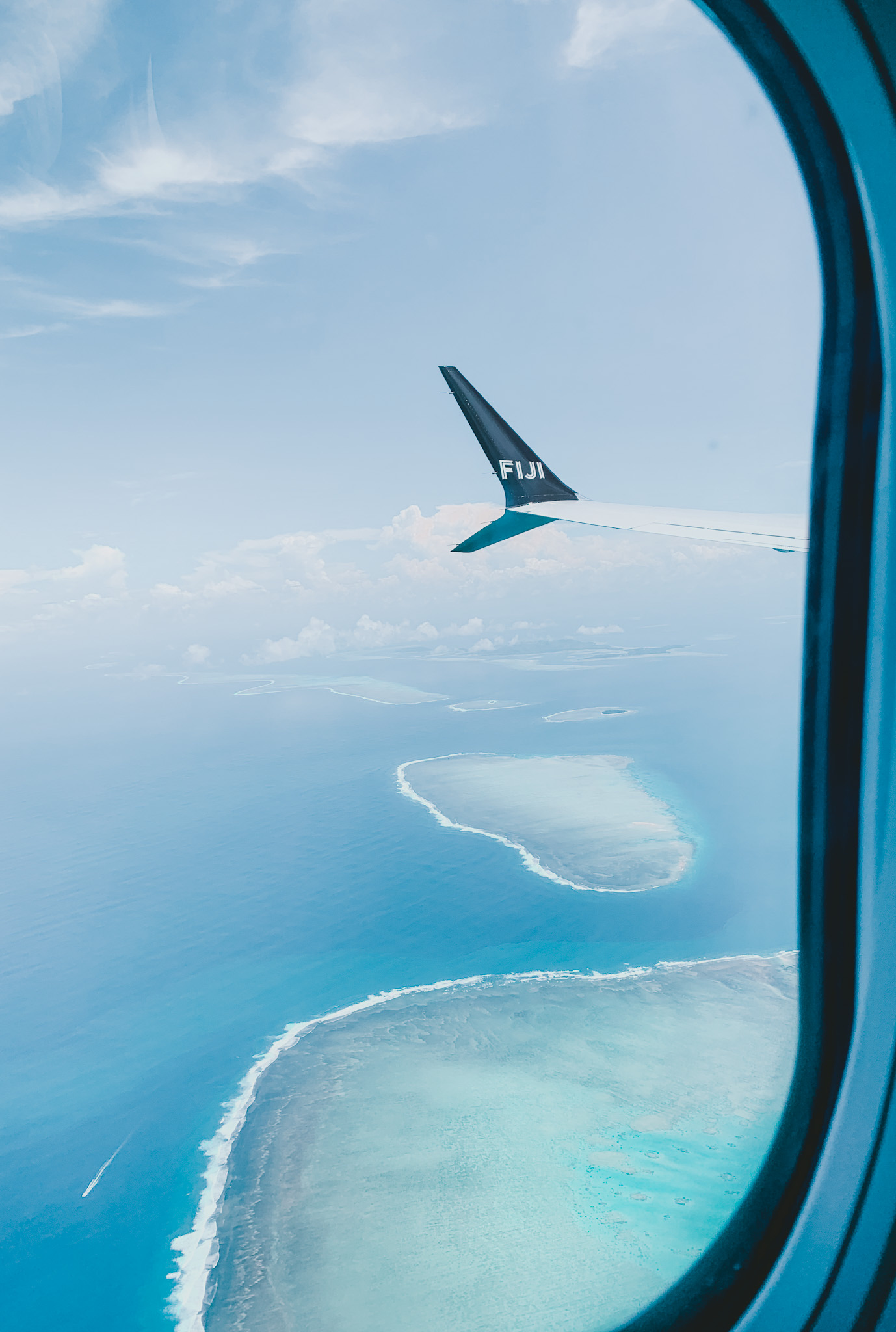 About to land in Fiji!