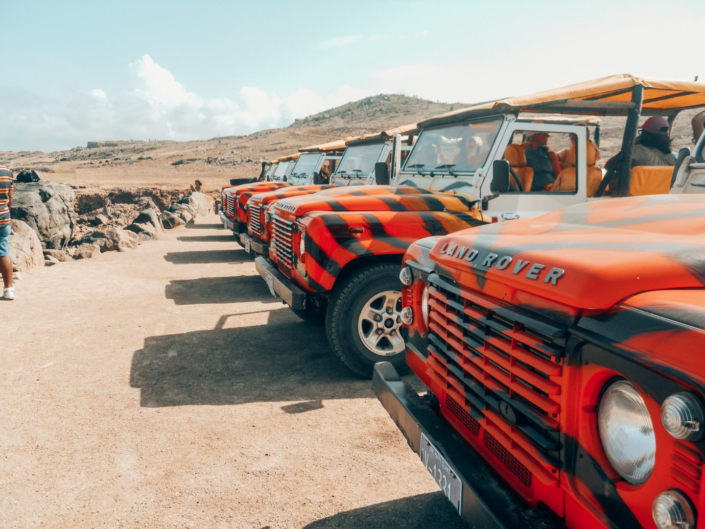 ABC tour Land Rover jeeps in Aruba