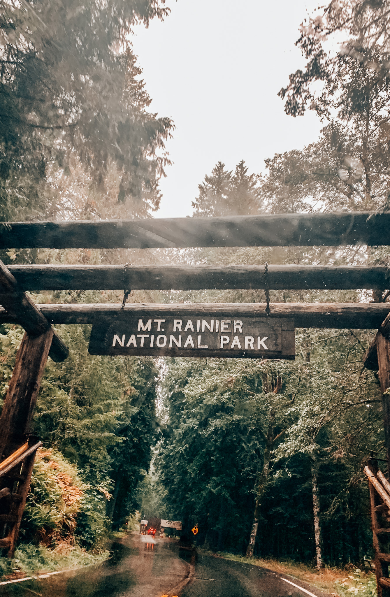 Entrance to Mt. Rainier National Park in the PNW