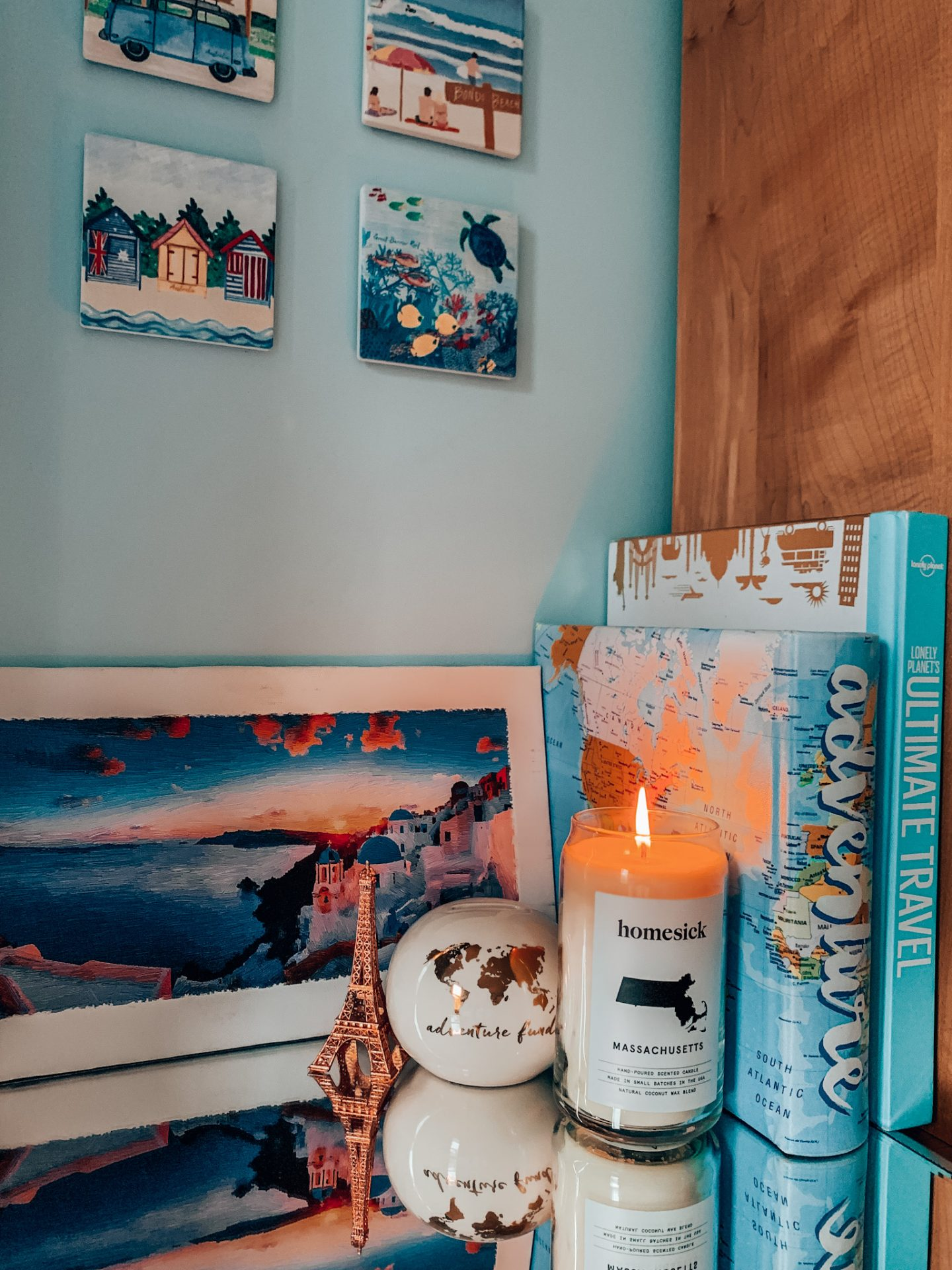 This Homesick Candle was the perfect addition to my little travel corner.