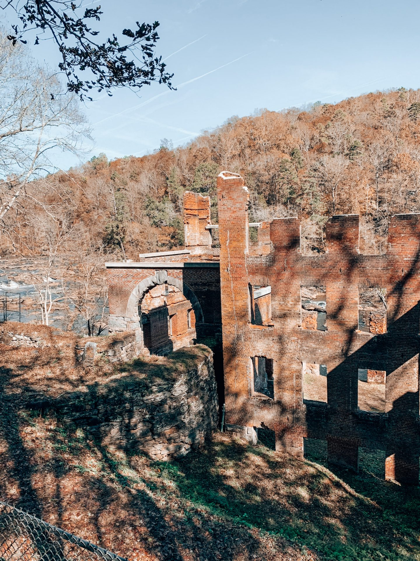 Paper mill at Sweetwater Creek in Georgia