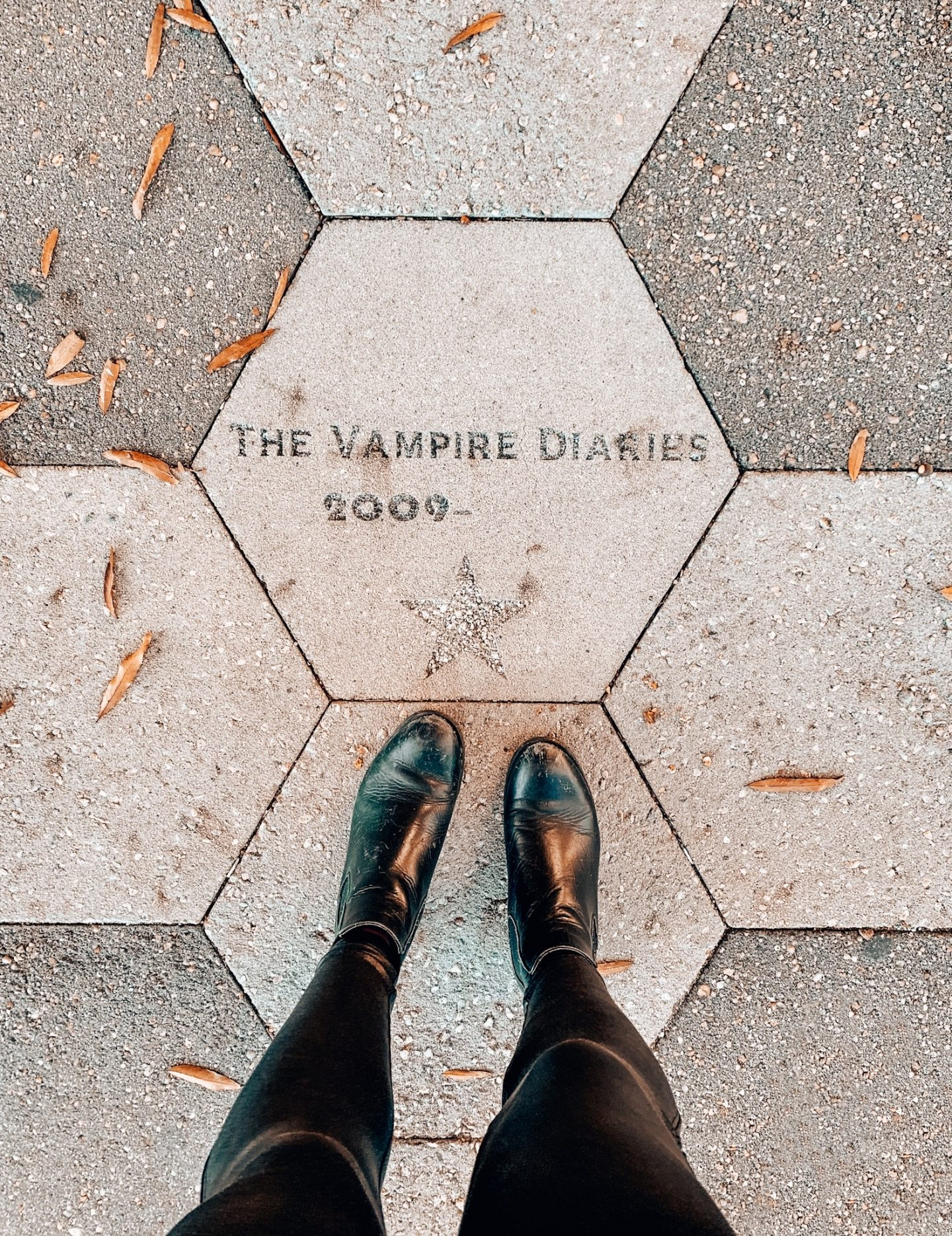 The Vampire Diaries star in downtown Covington, Georgia