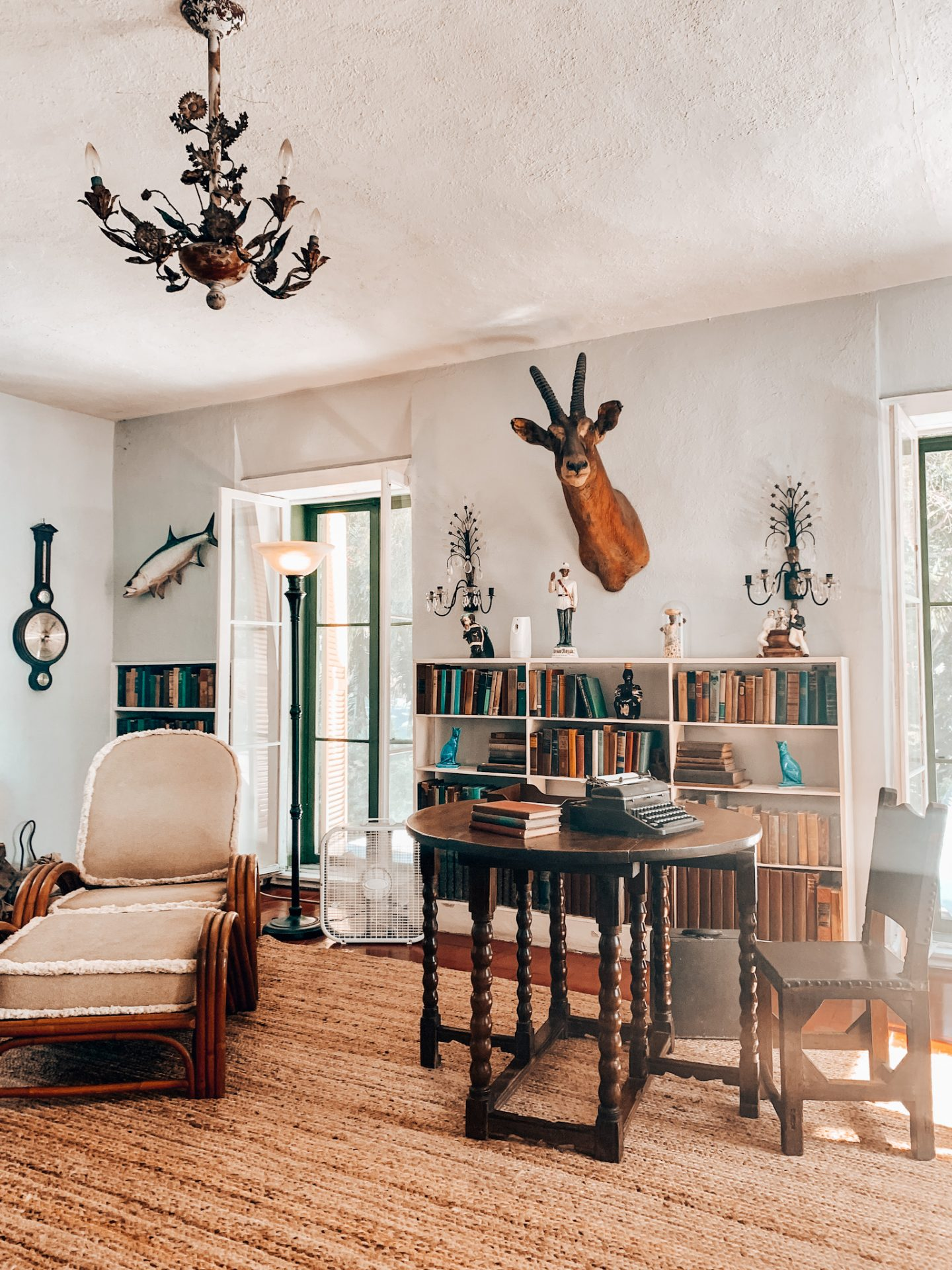 Ernest Hemingway did the majority of his writing in his man cave!