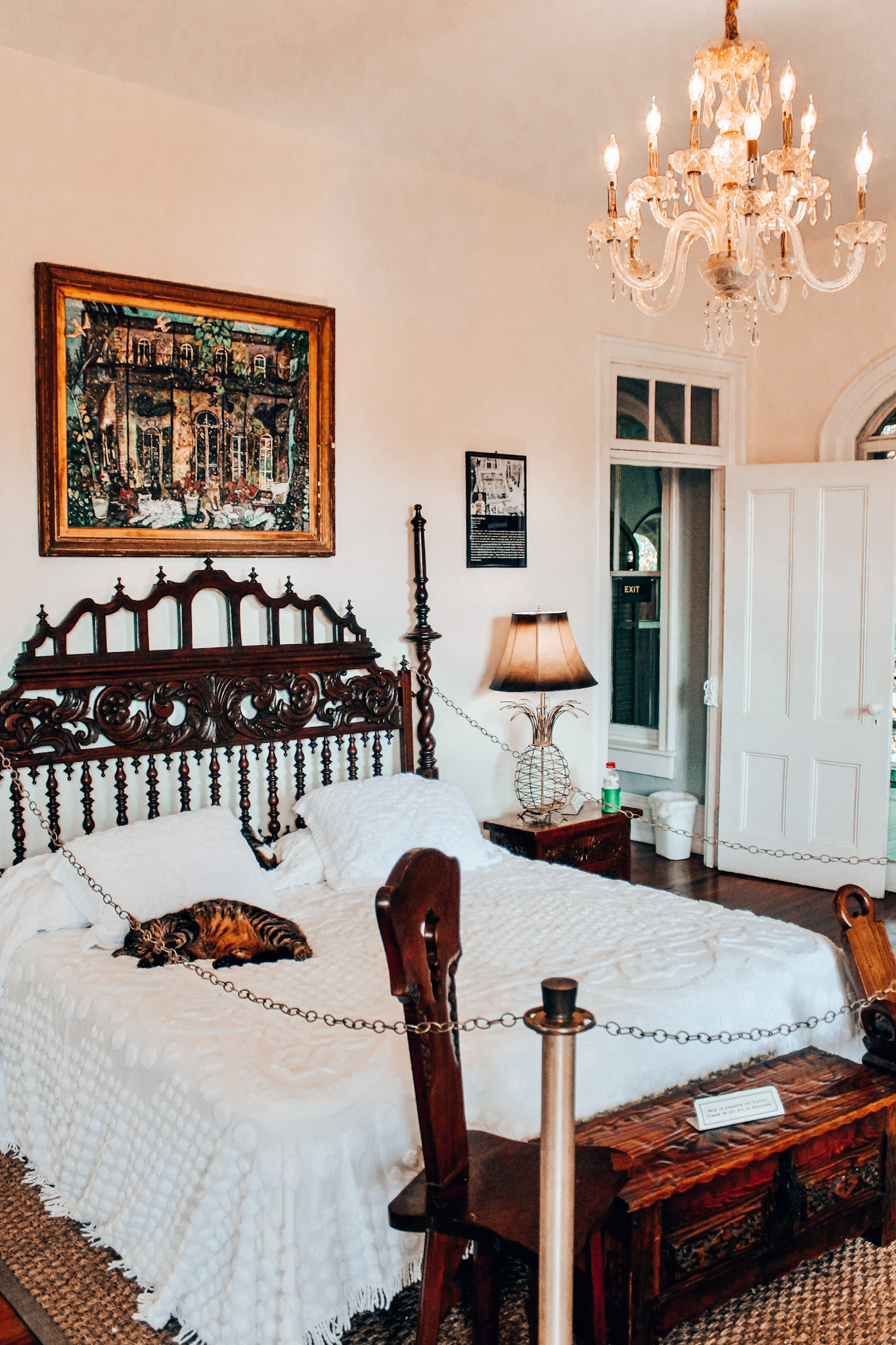 Hemingway's bedroom... peep one of MANY cats on the property