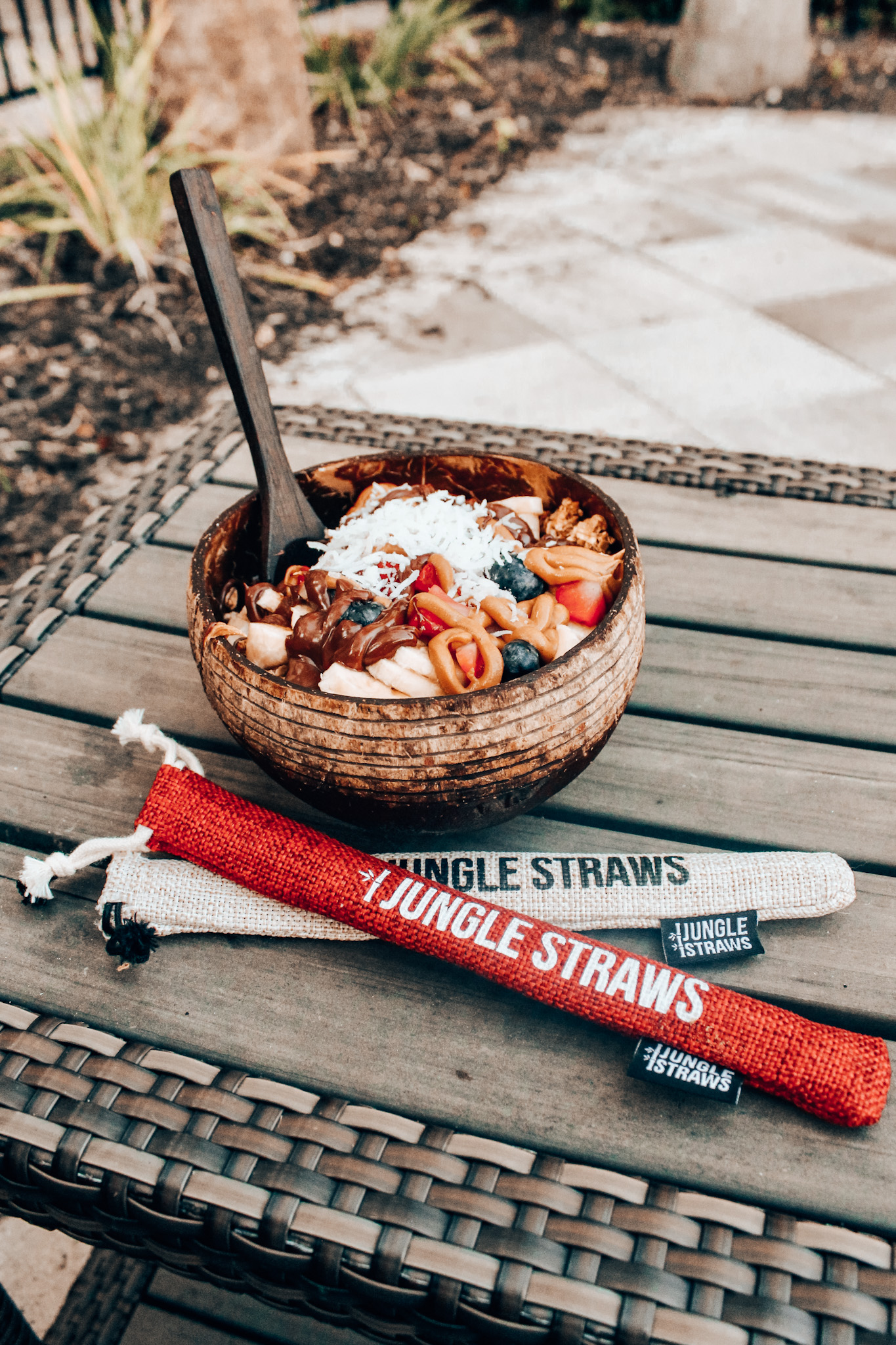 Jungle Culture's coconut bowls and wooden utensils