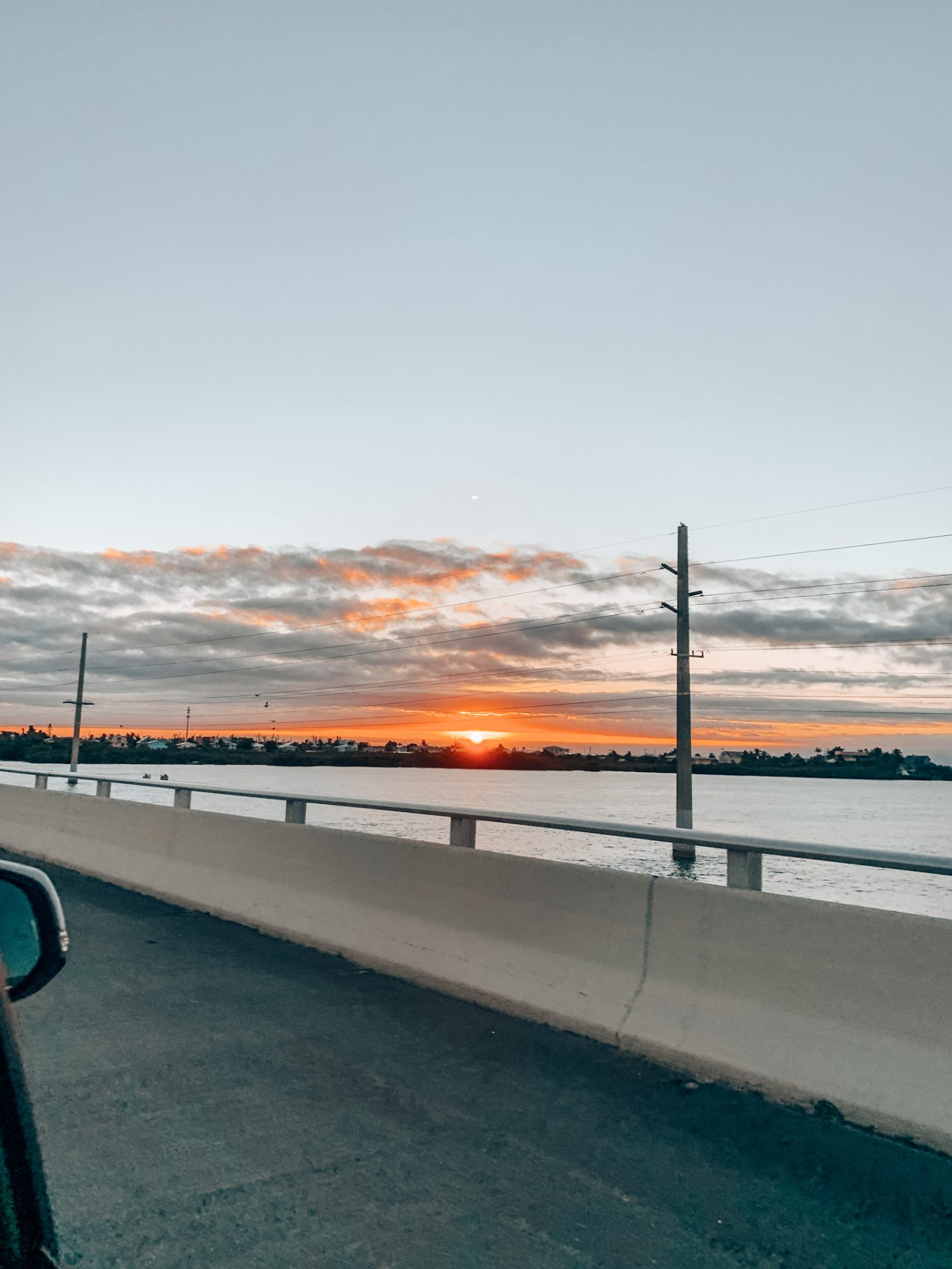 Sunset over the famous seven mile bridge