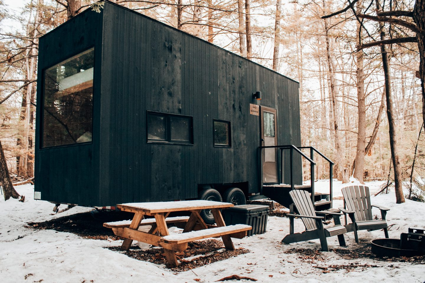 A 4-person Getaway House (see the bunks?)