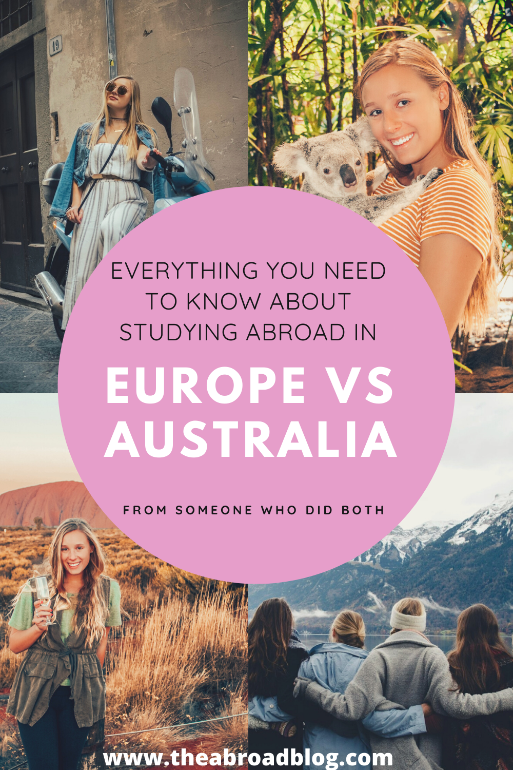 Pin about everything you need to know about studying abroad in Europe vs. Australia